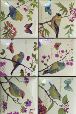 Bird Decors 6 pz